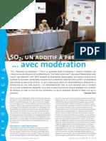 SO2, un additif à prescrire... avec modération Revue française d'Œnologie