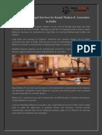 Legal Helps & Legal Services by Kunal Madan & Associates in Delhi