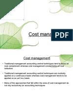 Cost Managament