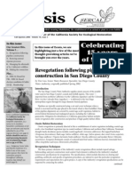 Ecesis Newsletter, Summer 2006 ~ California Society for Ecological Restoration