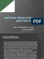 Metoda Penelitian Arsitektur 1