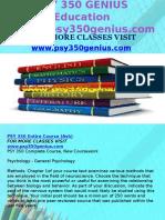 PSY 350 GENIUS Education Expert/psy350genius.com