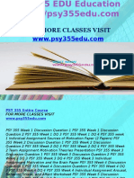 PSY 355 EDU Education Expert/psy355edu.com