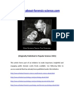 Forensic Science History How Science Tracks the Criminal