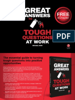Great Answers to Tough Questions at Work Sample Chapter