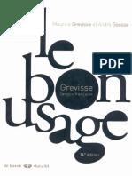 Le Bon Usage Grammaire Francaise PDF