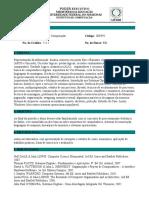Ementa IEC992 - Sistemas de Computação