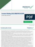 Comunicado ao Mercado - Apresenta??o Investor Briefing ESG BM