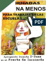 Jornadas #NiUnaMenos Para Las Escuelas