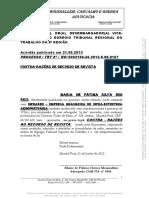 (Contra-razões de Rec de Revista Maria de Fatima Silva Dos Reis x Infraero)