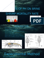 "VCE Biology 1/2-""Effects of pH on Brine Shrimp Survival Rates""."