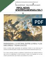 Paradigma 5 _ La Víctima, Entre Lo Real y Los Discursos – Vilma Coccoz _ Pipol News
