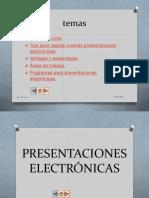 presentación electronica