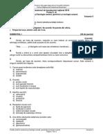 Bac Sesiune Specială, Proba Anatomie Fiziologie _2016