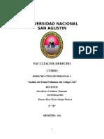 Análisis Del Título Preliminar Del Código Civil