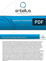 Entellus $ENTL IR Presentation May 2016