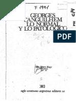 Canguilhem Georges - Lo Anormal y Lo Patológico (1)