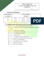1.7 Ficha de Trabalho Les Pronoms Interrogatifs 1