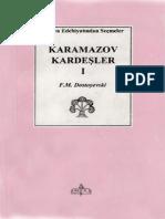 Dostoyevski - Karamazof Kardeşler I