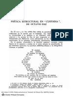 En Custodia Octavio Paz