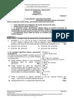 Bac Sesiune Speciala, Proba Informatica, Specializare Mate-Info Limbaj Ccplus 2016