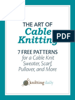 536730e388 7 Free Cable Knitting Patterns Knitting Daily