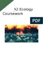SNAB A2 Ecology Coursework