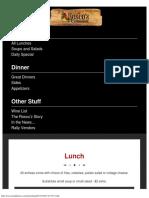 Lunch - Roscoz Steakhouse