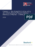 British Business Bank Small Business Equity Investment Tracker Report