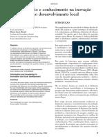 Informacao e Inovacao No Desenvolvimento Local