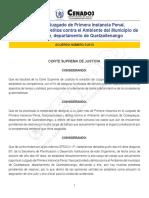 2013-A005 Organiza Juzgado Primera Instancia Coatepeque