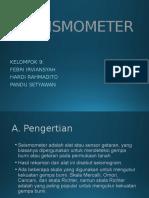 Seismometer pengukuran teknik