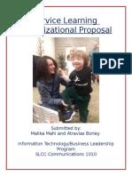 orgnaizational proposal
