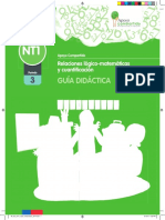 guía didáctica PAC matemáticas pre kinder periodo 3