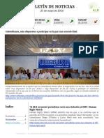Boletín de noticias KLR 25MAY2016