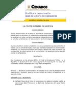 2004-A004 Modifica La Denominación de Las Salas de La Corte de Apelaciones