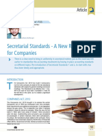 08 Secretarial Standards a New Requirement for Companies