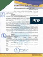 Resolución de Alcaldía Nº 262-2015 Mda