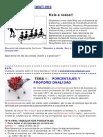 Ejercicios de Matematicas - Porcentajes, Proporciones y Regla de Mezcla