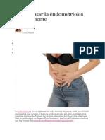 Cómo Tratar La Endometriosis Naturalmente