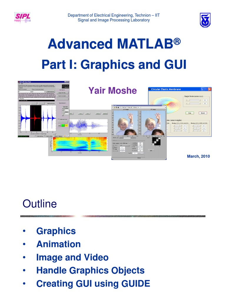 Graphics and GUI Using Matlab | Graphical User Interfaces