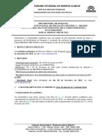 Comunicado PROINIC 2012