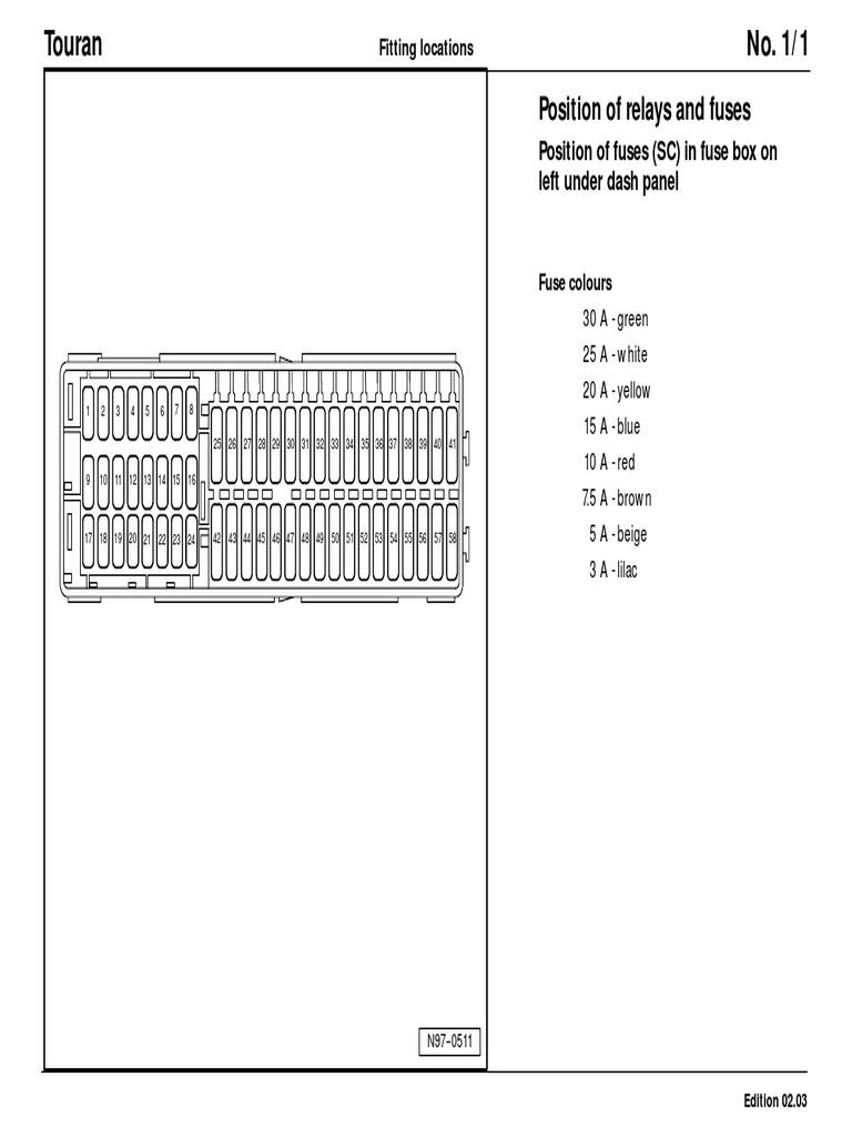 touran fusebox | diesel engine | valve  scribd