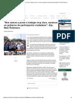 """05-24-2016 """"Nos Vamos a Poner a Trabajar Muy Duro, Seremos"""