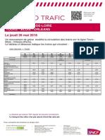 Les prévisions de circulation en Centre-Val de Loire pour le 26 mai 2016
