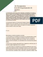 Elaboración de Documentos Administrativos Del Departamento de Recursos Humanos