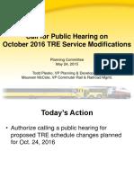 2016 TRE Service Changes