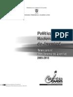 política Nacional de Juventud 2005 - 2015