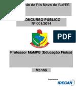 Idecan 2015 Prefeitura de Rio Novo Do Sul Es Professor Mampb Educacao Fisica Prova