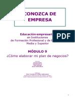 Modulo 9 - Como Elaborar Mi Plan de Negocios